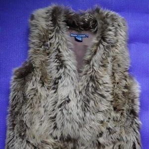 Blue Label Ralph Lauren Italian Lamb Fur Vest